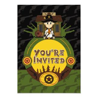 """El sheriff del vaquero en el fiesta de la cárcel invitación 5"""" x 7"""""""