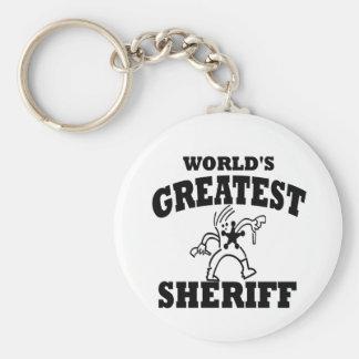 El sheriff más grande llavero redondo tipo pin