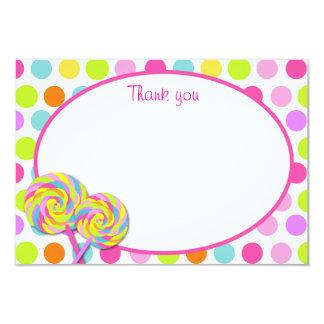 """El Shoppe dulce del Lollipop le agradece las Invitación 3.5"""" X 5"""""""