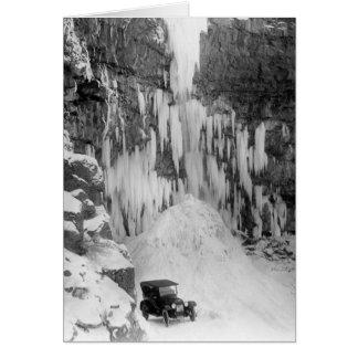 El Shoshone cae en invierno Tarjeta Pequeña