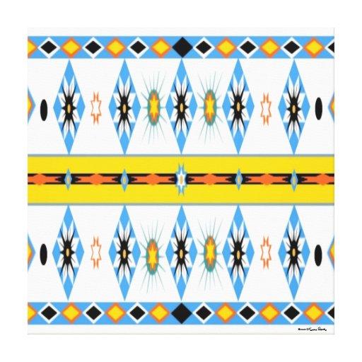 El Shoshone del nativo americano estiró la impresi Impresiones En Lona