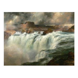 El Shoshone se cae en el río Snake - 1900 Tarjetas Postales