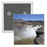 El Shoshone se cae en el río Snake en caídas gemel Pin Cuadrada 5 Cm