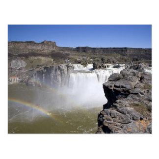 El Shoshone se cae en el río Snake en caídas gemel Tarjeta Postal