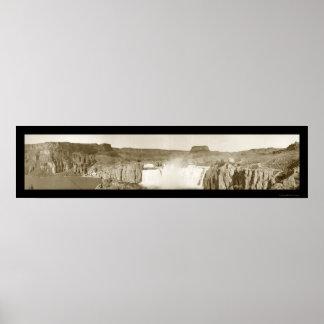 El Shoshone se cae la foto 1909 de Idaho Póster