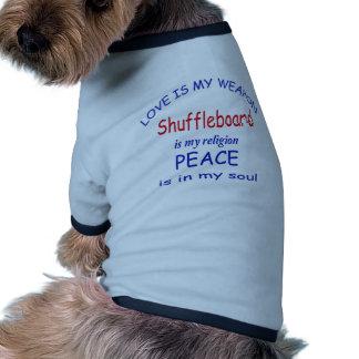 El Shuffleboard es mi religión Camiseta Con Mangas Para Perro