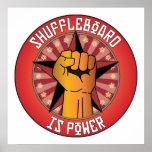 El Shuffleboard es poder Posters