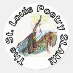 El shwag del golpe de la poesía de St. Louis Pegatina Redonda