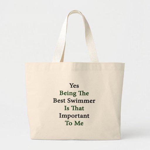 El sí que es el mejor nadador es ése importante pa bolsa lienzo