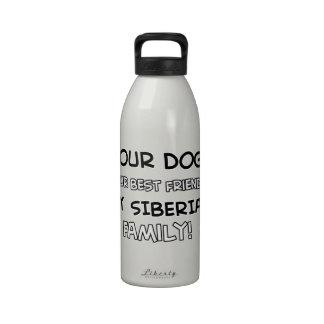 El siberiano es diseños de la familia botella de agua