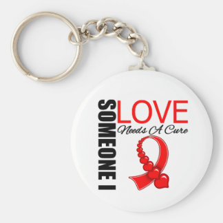 El SIDA alguien amor de I necesita una curación Llavero Redondo Tipo Pin