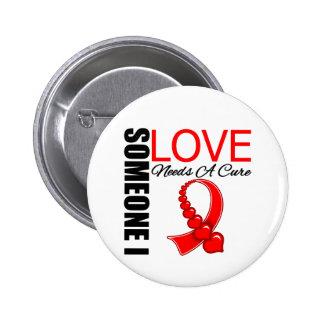 El SIDA alguien amor de I necesita una curación Pin Redondo De 2 Pulgadas