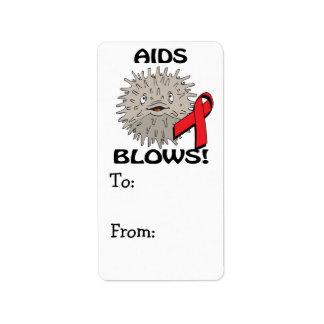 El SIDA sopla diseño de la conciencia Etiquetas De Dirección