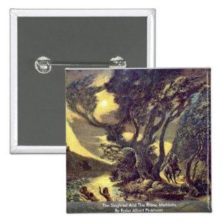 El Siegfried y las doncellas del Rin Pin Cuadrada 5 Cm