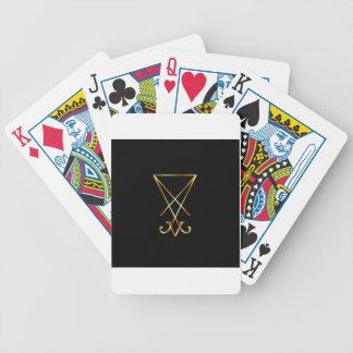El sigil de oro de Lucifer Baraja Cartas De Poker