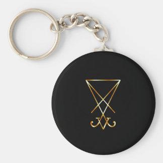 El sigil de oro de Lucifer Llavero Redondo Tipo Pin