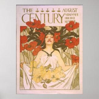 El siglo de agosto. Arte Nouveau del pleno verano Poster
