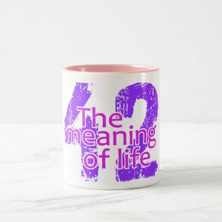 El significado 42 de la taza de la vida - elija el