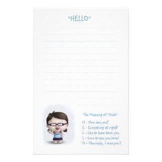 """El significado de """"hola """" papeleria de diseño"""