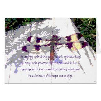 El significado de la libélula de la vida tarjeta de felicitación