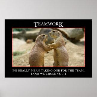 El significado real del trabajo en equipo (s) posters