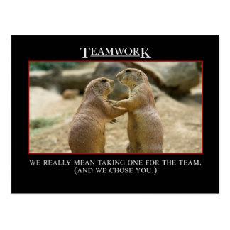 El significado real del trabajo en equipo tarjetas postales