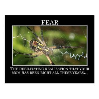 El significado verdadero del miedo tarjeta postal