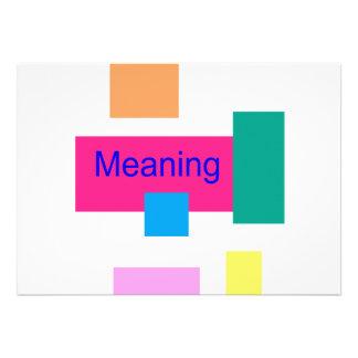 El significar invitacion personalizada
