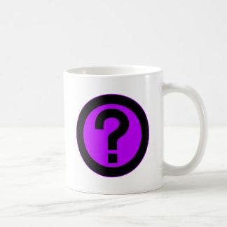 El signo de interrogación pide la puntuación del s taza
