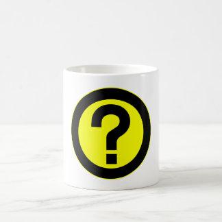 El signo de interrogación pide la puntuación del s tazas de café