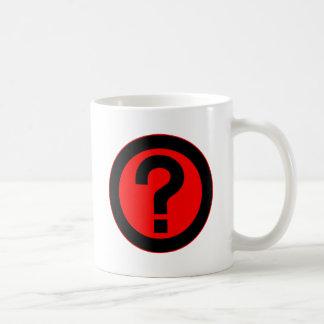 El signo de interrogación pide la puntuación del s tazas