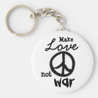 el signo de la paz, hace, ama, no, la guerra - mod llavero personalizado