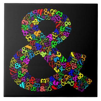 """El signo """"&"""" del carácter azulejo cuadrado grande"""
