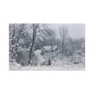 El silencio del invierno impresion de lienzo