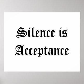 El silencio es aceptación póster
