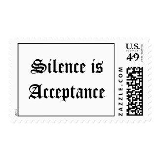 El silencio es aceptación timbres postales