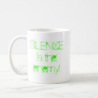 ¡el silencio es el enemigo! tazas