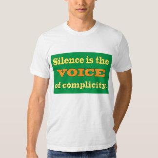 El silencio es la voz de la complicidad playeras