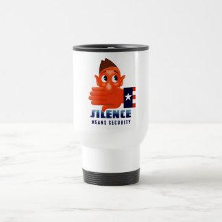 El silencio significa seguridad tazas de café
