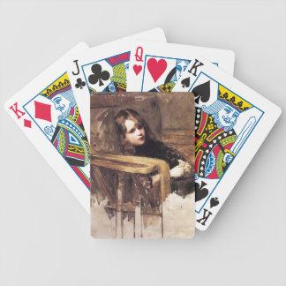 El sillón de John William Waterhouse Baraja Cartas De Poker