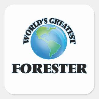 El silvicultor más grande del mundo pegatina cuadrada