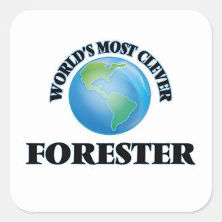 El silvicultor más listo del mundo pegatina cuadrada