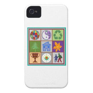 El símbolo artístico forma la recepción del iPhone 4 protector