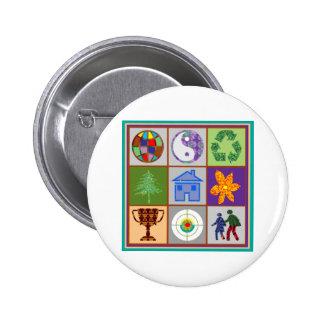 El símbolo artístico forma la recepción del pin