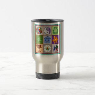 El símbolo artístico forma la recepción del tazas de café