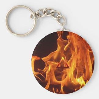 El símbolo de fuego del elemento llavero