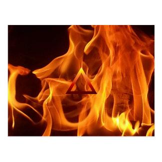El símbolo de fuego del elemento tarjeta postal