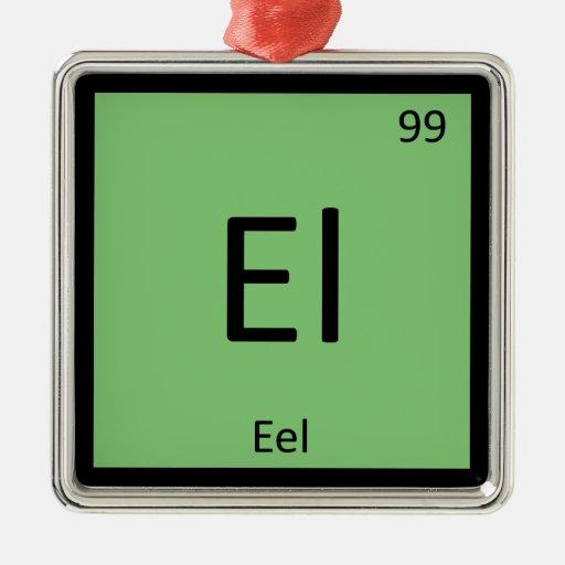 EL - Símbolo de la tabla periódica de la química d Adorno