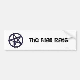 El símbolo de la tribu de las ratas de la alameda pegatina para auto