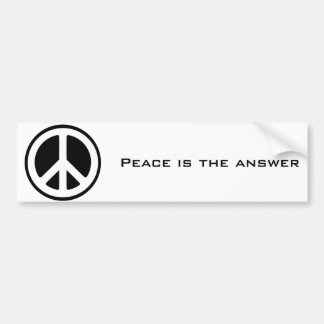 el símbolo de paz, paz es la respuesta pegatina para auto